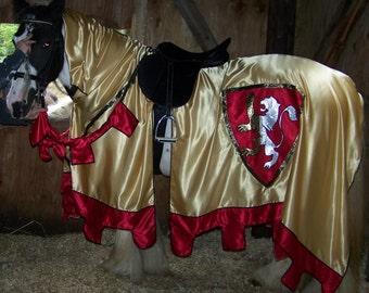 Equine Jousting/Tournament Horse Renaissace Caparison