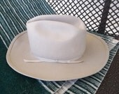 70s 80s Vintage for Him--Ercu 100% Wool Cowboy Hat