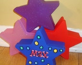 custom personalized party favors childrens birthday party star box hand painted