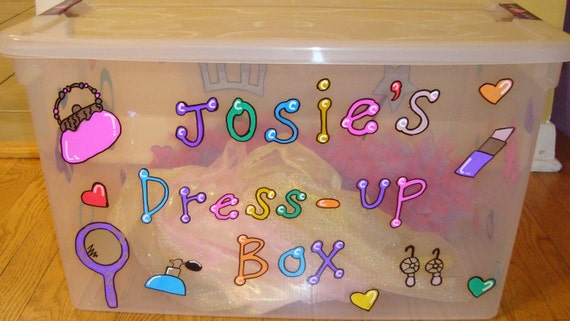 dress up box for girls children boys personalized hand painted gift birthdays holidays