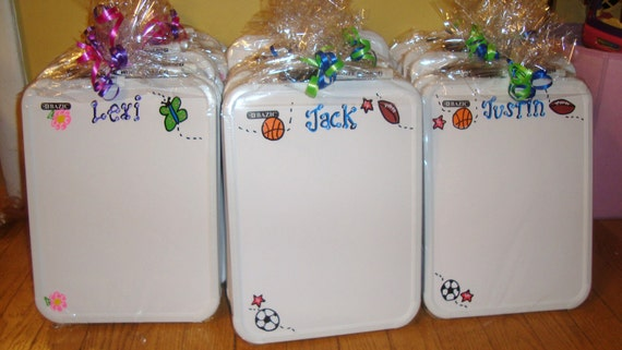 personalized dry erase boards for children party favors birthdays holiday gift custom made