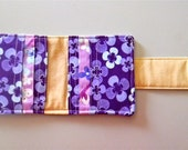 Purple and Khaki Wallet