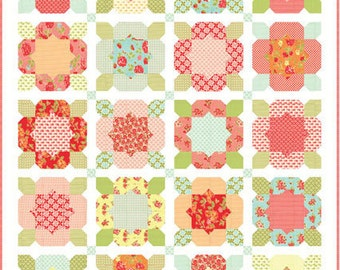 Flower Girl Quilt Kit  in Little Ruby by Bonnie and Camille for Moda