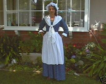 MARTHA WASHINGTON xxlg colonial women dress  1776 DAR  made to your measurements choice of print &color