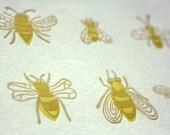 Six Bees Letterpress Card (Single)