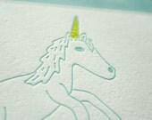 You're Magical Unicorn Letterpress Card (Single)