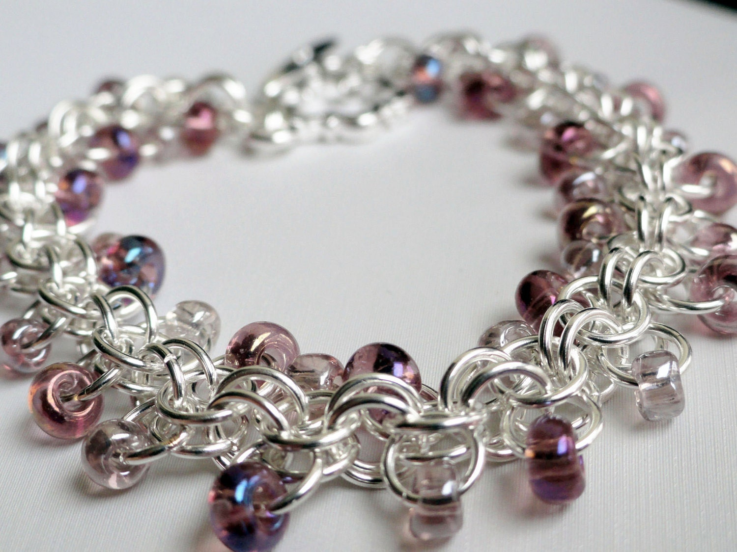 chainmaille bracelet roosa bracelet beaded by