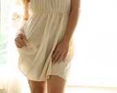 SALE-Cream And Lace- Romantic Revived Vintage Slip Nightgown or Babydoll- gift for her