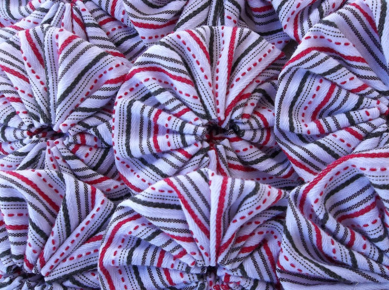 Red White And Black Striped 2 Fabric By Yoyosbuttonsandbeads