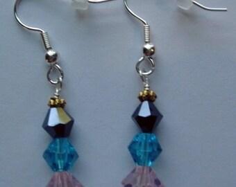 Glass beaded pierced earrings