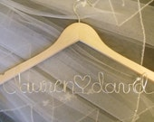 Personalized Wood and Wire Wedding Dress Hanger