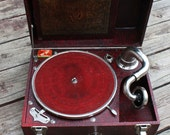 RESERVED Puritone - Portable Phonograph Gramophone Record Player