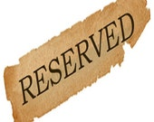 Reserved listing for Barbara - Deposit for custom parasol