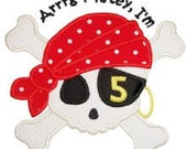 Pirate birthday applique shirt