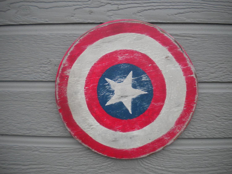 Captain America Super Hero Shield Wall Art