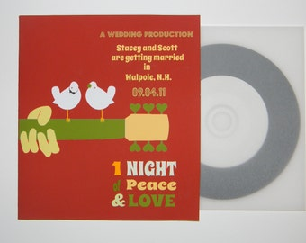 Custom Wedding CD Sleeve Save the Date - Sample