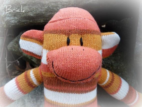 sock monkey doll, sock monkey, sockmonkey, sock monkeys, handmade sock monkey, unique sock monkey, baby safe