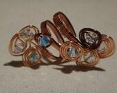 Swirly Flower Copper Ring