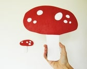 Two Red Mushrooms