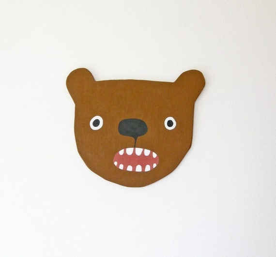 Brown Bear Head RESERVED