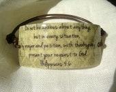 Neutral Philippians 4:6 Scripture Bracelet
