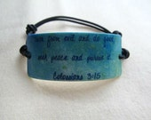 Splattered Sky Colossians 3:15 Scripture Bracelet