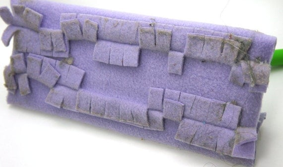 Fleece Sweeper Cover, 2 pack Lavender Reusable Washable Fleece Sweeper Refill