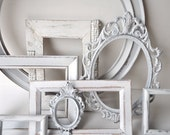 Distressed Picture Frames - Custom 10 Pc Set - Choose YOUR Colors - Shabby Chic Wedding, French Country Wall Decor - SALE