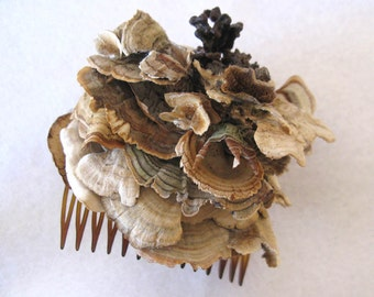 "Hair Fascinator, Rustic Woodland Hair Accessory, ""Woodland Blossom"""