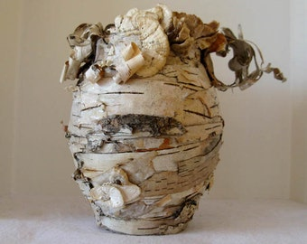 Woodland White Birch Vase Eco Friendly