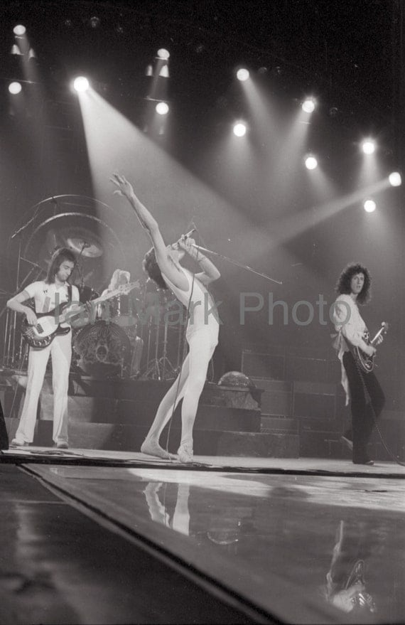 Queen 1977 8X12 Photo                                                                Image registered at the United States Copyright Office