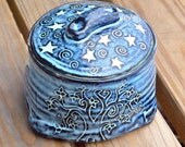 Sgraffito Yarn Bowl for Storage