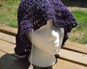 Crocheted Hemp Bohemian Sun Hat in Amethyst OOAK