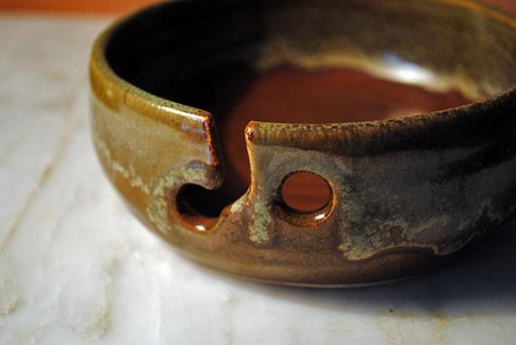 Ceramic Yarn Bowl (Knitting Bowl) for a Single Skein