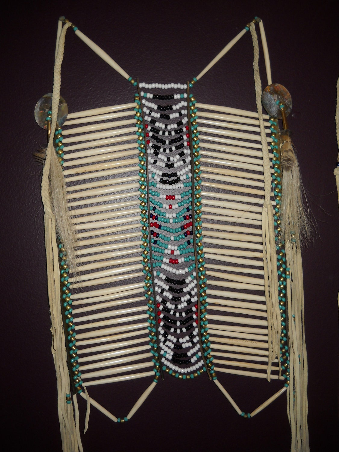 Native american design breastplate shoshone by skyfeatherstrading