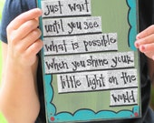 Shine your little light on the world graduation card
