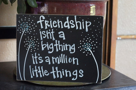 friendship isn't a big thing handmade card