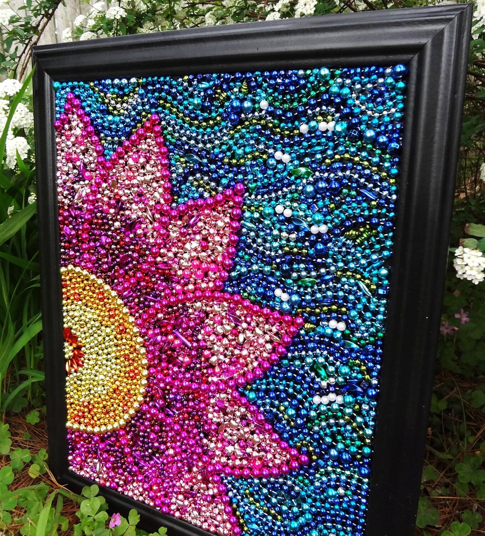 Original Wall Art Spring Flower Custom Order By BayoulandBeads
