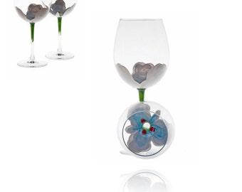 Iris Wine Glasses