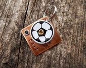 Pet Tag Dog Tag ID Artisan Charm Ball Soccer Crazy Copper Aluminum Custom Rivets Stamped Keychain Pendant