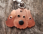 Keychain ID Key Chain Tag Labradoodle Breed Dog Pet Lover Copper Aluminum Custom Rivets Stamped
