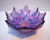 Purple Flower Embroidered Bowl