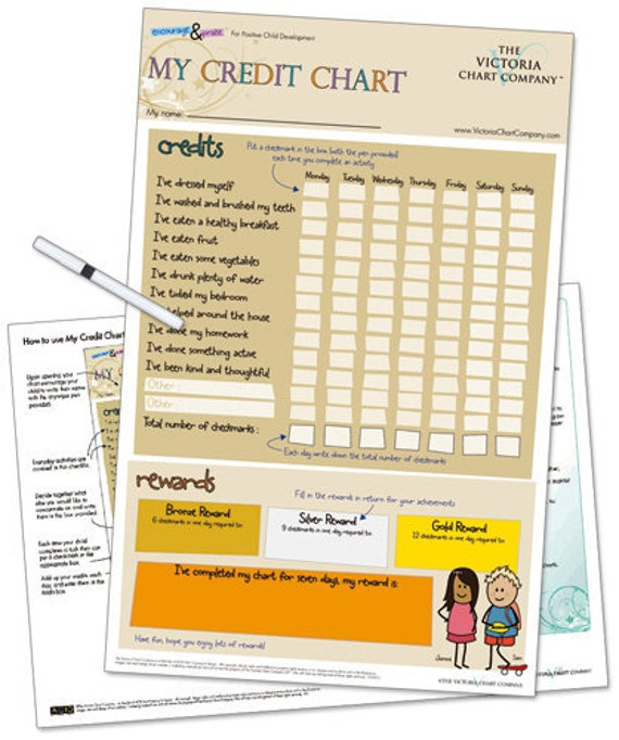 Printable My Credit Reward Chart