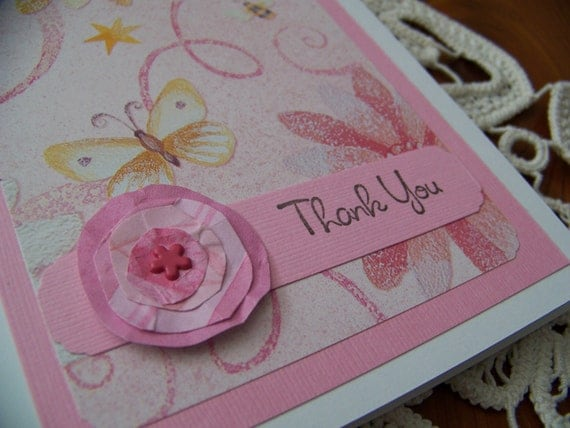 Thank You Notes Card Set of 4