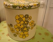 Retro Floral  Canister Tins by Ballonoff