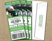 Soccer Birthday Game Ticket Invitation - Digital File