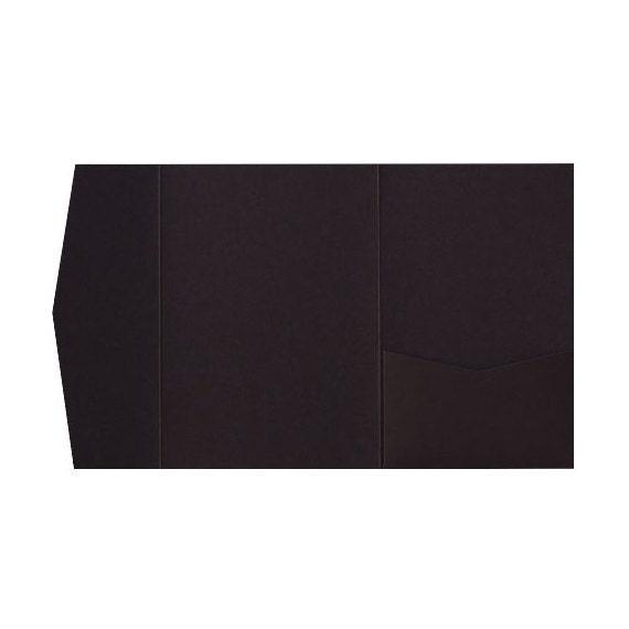 50 Chocolate Brown Solid Pocketfold Invitation Card A7