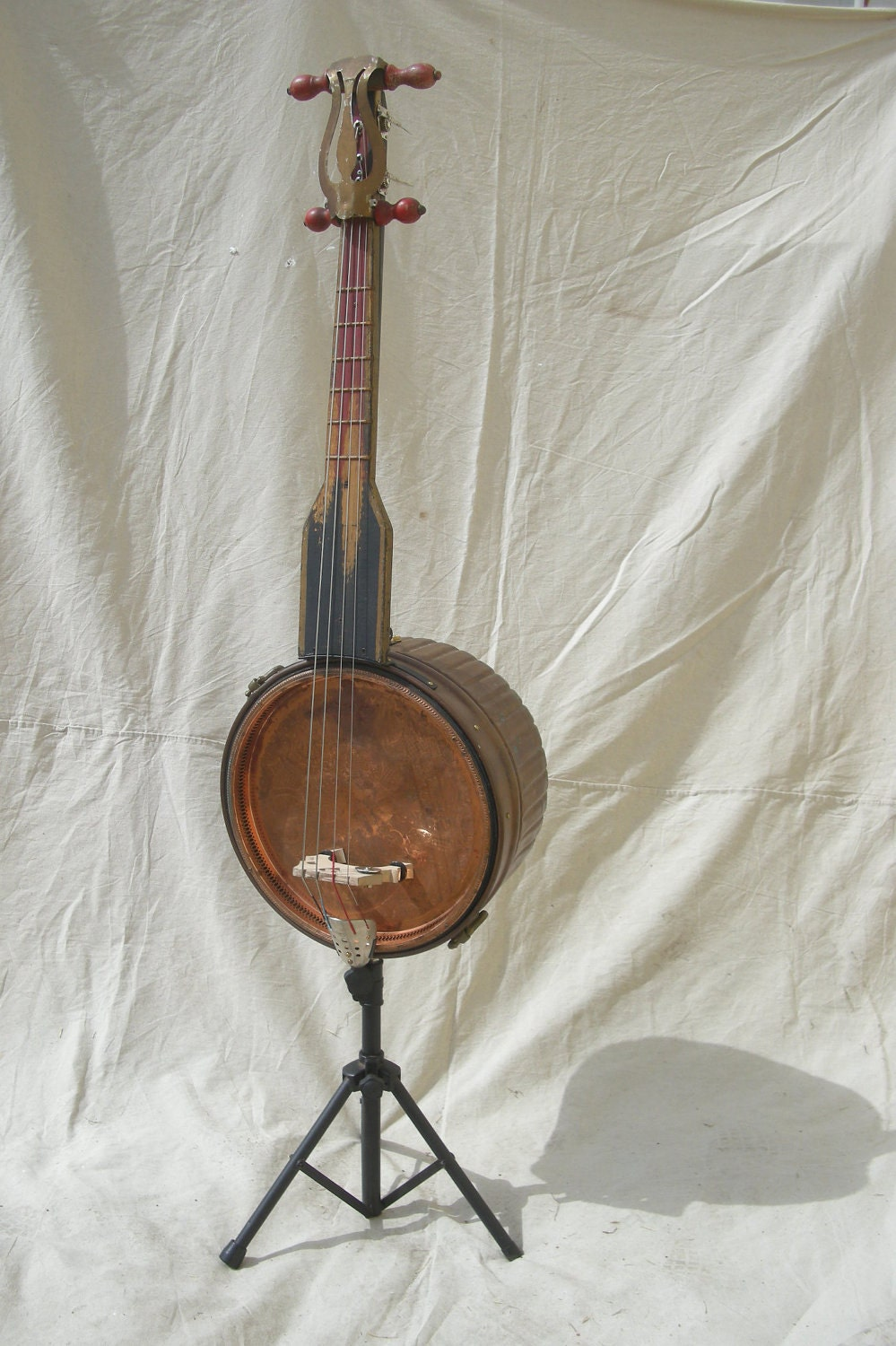 Upright Base Guitar : bass guitar upright copper washtub antique hand made ~ Vivirlamusica.com Haus und Dekorationen
