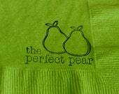 The Perfect Pear Personalized Lime Green Paper Wedding Cocktail Napkins - Set of 50