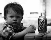 A Cold One - A boy and his beer.